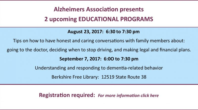 Dementia Conversations Aug 23, 2017 revised