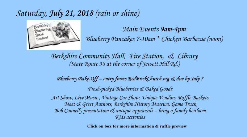 Berkshire Blueberry & Book Festival 2018