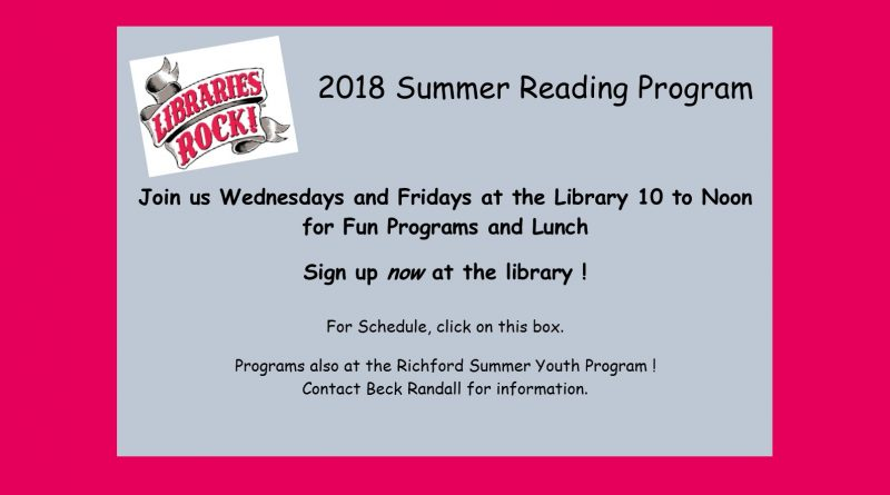Libraries Rock – Summer Program