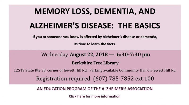 Dementia Basics  August 22, 2018