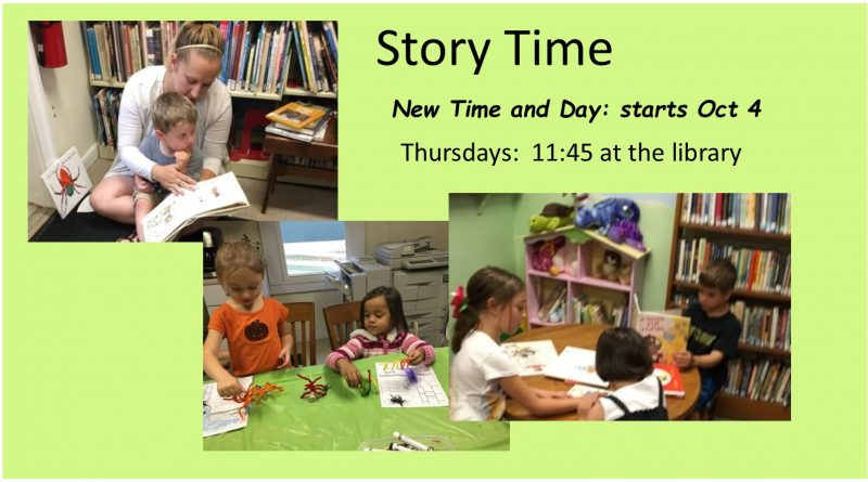 Story Time Fall 2018