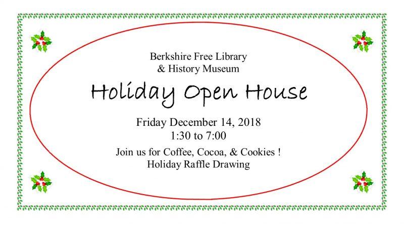 Holiday Open House & Raffle