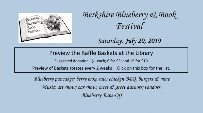 Blueberry & Book Festival Raffle Basket Preview