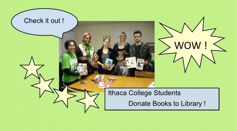 Ithaca College Students Donate Books