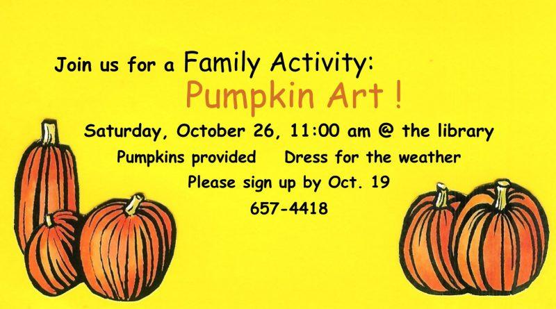 Family Activity:  Pumpkin Art