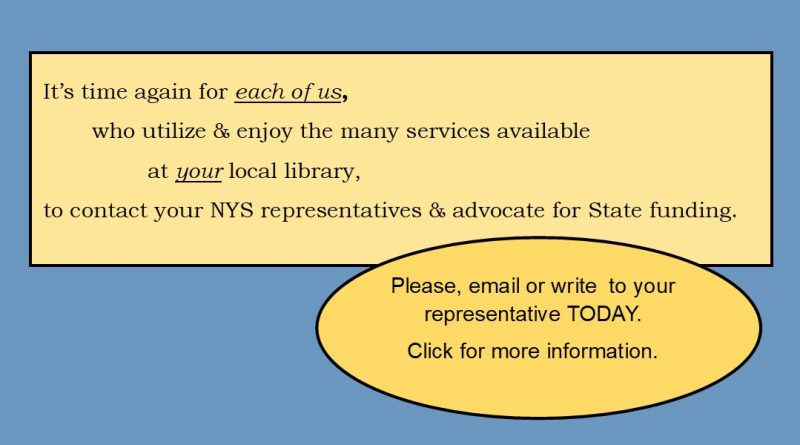 Advocate for NYS Library Funding Today !