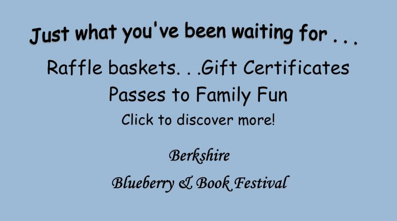 Blueberry & Book Festival Raffle Preview 2021